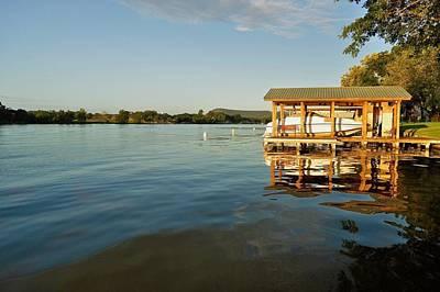 Texas Hill Country Lake Print by Kristina Deane