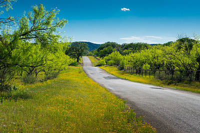 Hill Country Photograph - Texas Hill Country Road by Darryl Dalton