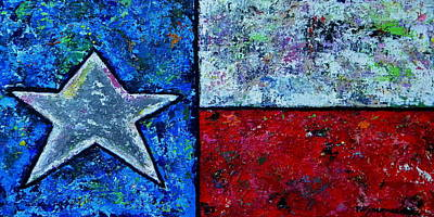 Flags Painting - Texas In Color by Patti Schermerhorn