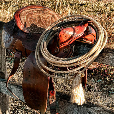Wooden Fence Post Photograph - Texas Morning by Olivier Le Queinec