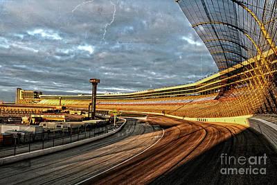 Texas Motor Speedway Print by Charles Dobbs