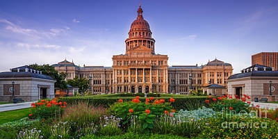 Texas State Capitol Summer Morning - Austin Texas Print by Silvio Ligutti