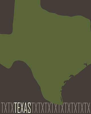 Texas State Modern Print by Flo Karp
