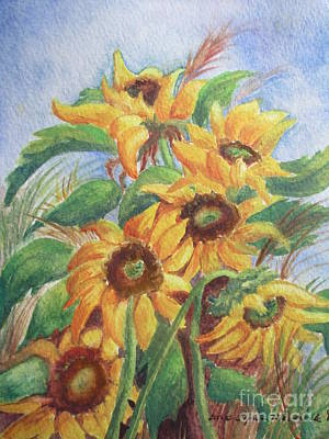 Painting - Texas Sunflowers by Lynn Maverick Denzer