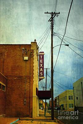 Restoration Photograph - Texas Theater by Elena Nosyreva