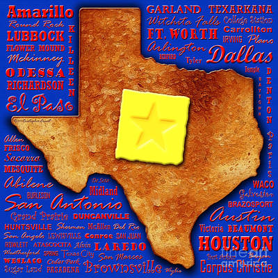 Texas Toast Print by Cristophers Dream Artistry
