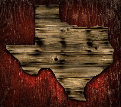 Texas Wood Print by Darryl Dalton