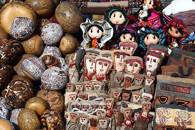 Ethnic Dolls Photograph - Textile Dolls by James Brunker