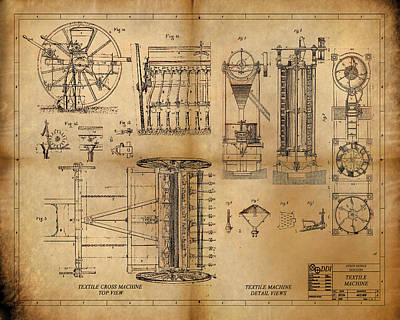 Textile Machine Print by James Christopher Hill