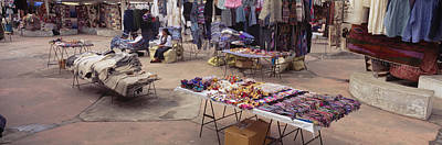 Large Group Of Objects Photograph - Textile Products In A Market, Ecuador by Panoramic Images