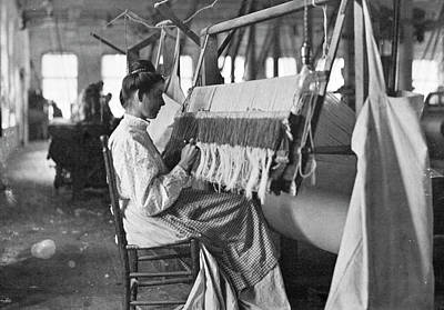 Handloom Photograph - Textile Worker, C1910 by Granger