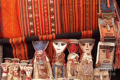 Ethnic Dolls Photograph - Textiles And Dolls by James Brunker