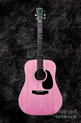 Music Photograph - Texture Guitar Pink 3 - Music - Acoustic - Abstract by Andee Design