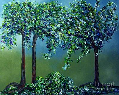 Knife Painting - Texture Trees by Eloise Schneider
