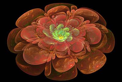 Textured Bloom Print by Sandy Keeton