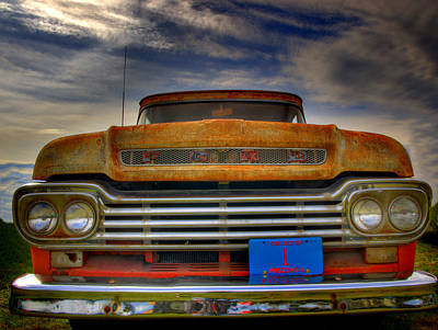 Textured Ford Truck 1 Print by Thomas Young