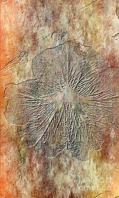 Textured Fossil Abstract Print by Maggie Vlazny