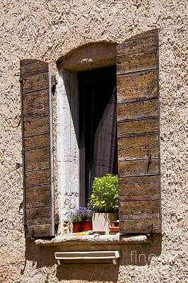 Textured Shutters Print by Bob Phillips