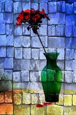 Glass Wall Digital Art - Textures by Donald Davis