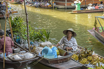 Portraits Photograph - Thai Floating Market No 5 - More Bananas by Paul W Sharpe Aka Wizard of Wonders