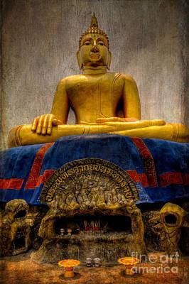 Thai Golden Buddha Print by Adrian Evans