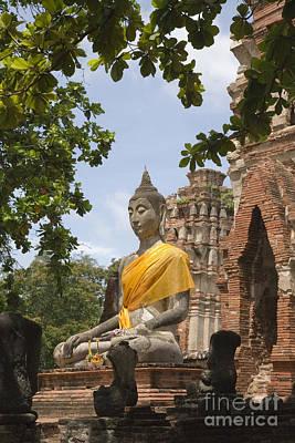 Thailand Ayutthaya Buddha Print by Colin and Linda McKie