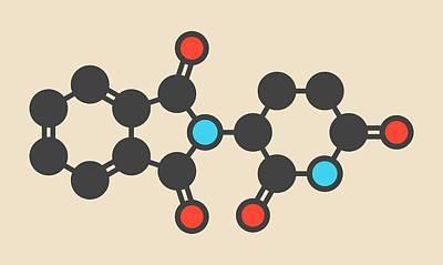 Thalidomide Teratogenic Drug Molecule Print by Molekuul