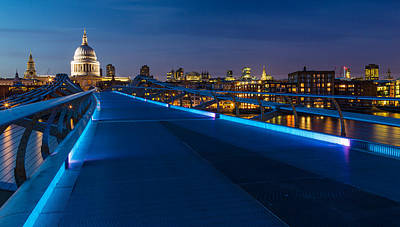 Thames Riverside Blues Original by Adam Pender