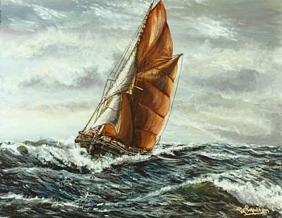 Thames Sailing Barge Centaur Original by Mackenzie Moulton