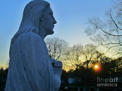 Christian Art . Devotional Art Photograph - Thank You God For The Day That Has Been by Crystal Loppie