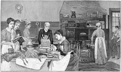 Cookbook Painting - Thanksgiving, 1890 by Granger