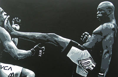 Ufc Painting - That Kick by Geo Thomson