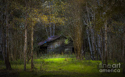 Fence Posts Photograph - That Old Barn by Marvin Spates