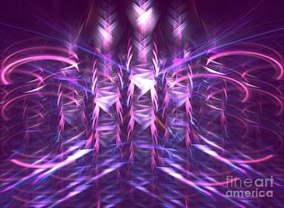 Abtract Digital Art - Thatch by Kim Sy Ok