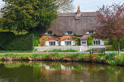 Thatched Cottage Crawley Hampshire Print by David Ross