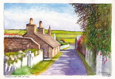 Thatched Cottage Cregneash Isle Of Man Original by Dai Wynn