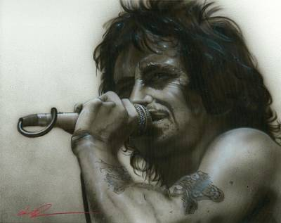 Acdc Painting - Bon Scott - ' That's How It Goes Playing In A Band ' by Christian Chapman Art