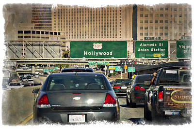 Gridlock Photograph - The 101 - Impressions by Ricky Barnard