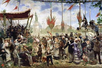 The 14th July 1880, 1882 Oil On Canvas Print by Alfred Roll