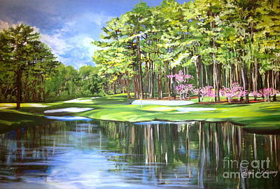 The 16th In Augusta Original by Robbie Bellamy