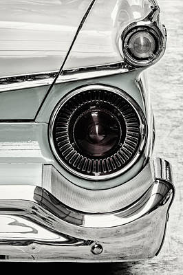 The 1959 Ford Galaxy 500 Sunliner Convertible Bw Print by Martin Bergsma