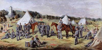 Ground Painting - The 1st Administrative Batallion by Claude Lorraine R.W Nursey