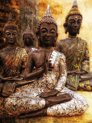 the 4 Buddhas Print by Joachim G Pinkawa