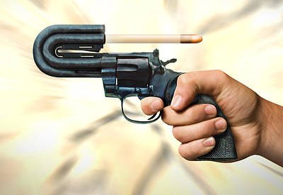Message Art Photograph - The 44 Magnum Justifier by Mike McGlothlen