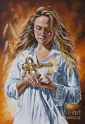 Painting - The 7 Spirits Series - The Spirit Of Understanding by Ilse Kleyn