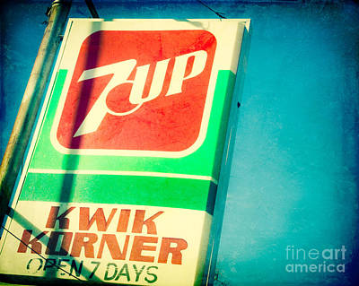 7up Sign Photograph - The 7up Korner Store by Sonja Quintero