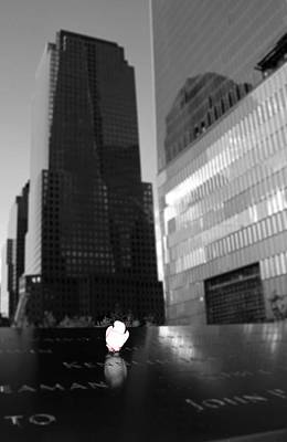 The 911 Memorial In Black And White Print by Dan Sproul