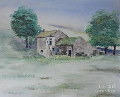 Abandoned Farm House Painting - The Abandoned House by Martin Howard