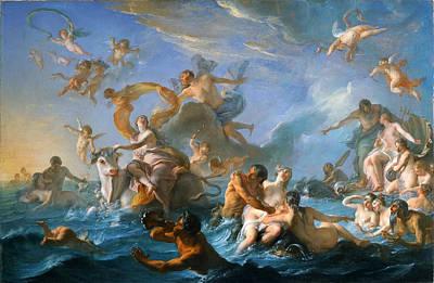 The Abduction Of Europa Print by Noel-Nicolas Coypel