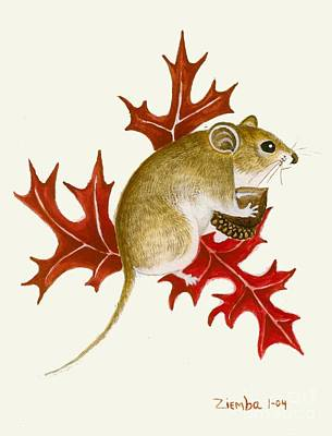 Painting - The Acorn Mouse by Lori Ziemba